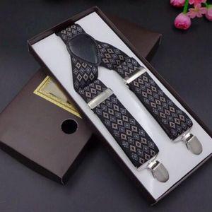 2017 Novedad Impreso Tirantes Hombres Tres Clips-on Braces Vintage Mens Suspender Para Pantalones Marido Masculino Suspensorio Para Falda