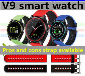2017 New V9 Bluetooth SmartWatch Phone Support Sim TF Card Slot Clock Camera MTK6261 Smart watch for Android Phone DZ09 V8 A1 Smart Wathes