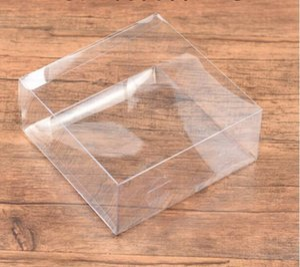 봉제 개념 도구 바느질 상자 저장소 명확 PVC 웨딩 선물 상자 FALT, 정사각형 투명 한 PVC 상자