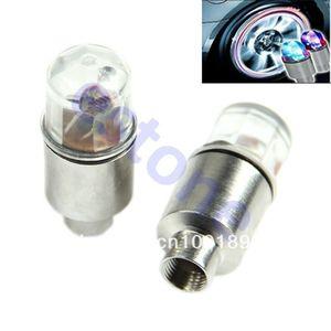 A la venta al por mayor 1 par LED Motor bicicleta de la bici de Neumáticos Tapas de neón luces del rayo de la rueda de alta calidad