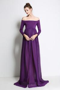 Maternité Photographie Props Enceintes Robes Photographie de maternité Robe En Mousseline De Soie Vêtements De Grossesse Pour la photographie