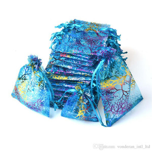 Cordonnet sacs organza sac d'emballage cadeau pochette cadeau pochette bijoux sac organza couleur de mélange de sac d'emballage de sacs de bonbons