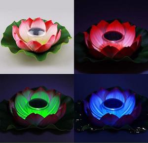 Im Freien wasserdichte Lotus Teich Aquaplaning Licht Solar Licht Solar Garten Lichter Wunsch Lotus Lampe Großhandel