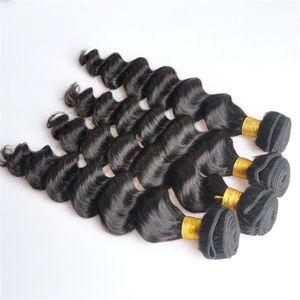 인도 버진 인간의 머리 느슨한 깊은 파도 처리되지 않은 레미 헤어 weaves double wefts 100g / bundle 1bundle / lot 염색 표백 될 수 있습니다