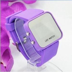 Explosion fashion, Korean fashion LED, electronic watch, fashion leisure plastic mirror, watch