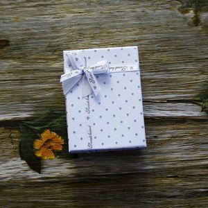 2017 ringe box weiß halskette ohrringe schmuck geschenkbox dot bowknot zubehör boxen großhandel 10 stücke