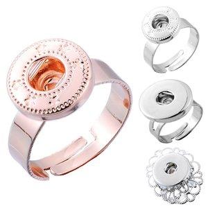 새로운 스타일 Noosa Ring Hollow 타원형의 꽃 원형 모양 DIY Snap Buttons에 맞는 4 개의 스타일 FBA Drop Shipping N508Q