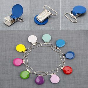 Großhandels-25mm Baby-Kind-runder Metallclip Pacifier Alloy Mix Farben 10Pcs