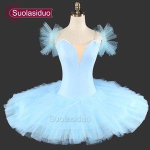 Обычная профессиональная балетная пачка синий для девочек Natcracker Platter балетная пачка Детские балетные костюмы SD0025