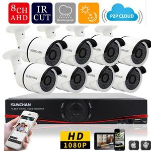 1080p полный HD Ахд 8-канальный DVR 8шт 2.0 МП 3000TVL пуля безопасности камеры 36pcs ИК Сид напольной системы домашнего наблюдения