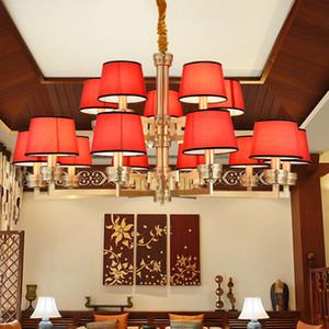 Nuevo estilo chino de gama alta de cobre rojo led luces de la lámpara linternas clásicas creativas decorativas led lámparas de iluminación led lámparas colgantes