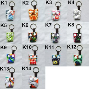 [Sigzagor]Cute Mini Tiny Cloth Diaper Keychains Key Chains,Adorable,Snap, Baby Shower Gift, Mama Gift Christmas Ornament