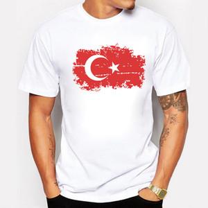 Türkei Fans Cheer Männer T-Shirt European Cup Oansatz Weiß Nostalgisch Aber Mode National Flag Sommer T-Shirt für Männer