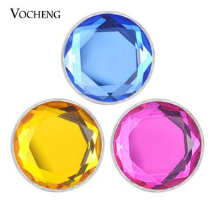 VOCHENG NOOSA Chunks Glass Ginger Snap Charms bouton fit 18mm snap bijoux 8 Couleurs Verre Interchangeable Snap Button bijoux Vn-1828