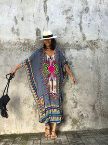 2017 лето Традиционные африканские Этническая одежда Женщины Africaine Печать Dashiki Batwing рукав платья африканских Одежда Индийская базен выскочка Femme