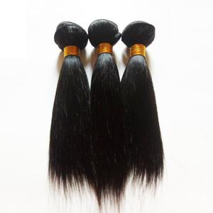 Remy indien Trame De Cheveux Courte Bob Style 6 ~ 12inch 3Bundles Couleur Naturelle 3pcs Lot Sexy Non Transformée Péruvienne Droite Vierge Weave