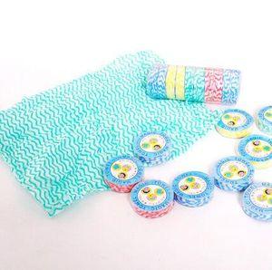 hotsale travel camping portable magic mini non-woven disposable compressed bath face hand towel washcloth 10pcs lot random color