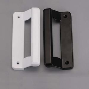 Schwarz-Weiß-Knopf Kunststoff Stahl Schiebetür Griff Aluminiumlegierung Tür Fenster Pull Haushaltsmöbel Hardware Teil