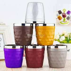 Newest Colorful Cups 304 Stainless Steel Mug Coffee Cups Wine Glasses Water Cup Outdoor Personalized Mugs DHL Free WX-C38