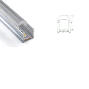 10 X 1M комплектов / серии типа AL6063 Т3-Т8 U привел экструзию алюминия и привел канал для стены или потолка освещения