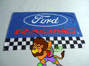 ford racing flag для автосалона, ford banner, размер 3X5 футов,100% полиэстер 90*150 см, цифровая печать