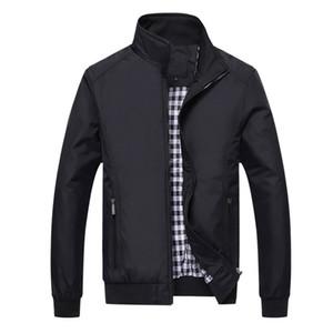 Giacca Uomo Moda Casual Allentato Mens Jacket Sportswear Bomber Jacket Uomo giacche e cappotti Plus Size M- 5XL