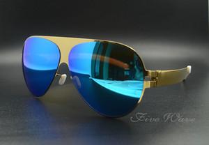 gafas de sol nuevas alemanas gafas de sol de diseñador MYKITA Gafas de sol de aleación montura piloto gafas de sol extragrandes
