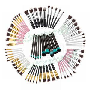 Profesyonel 10 Adet Makyaj Fırçalar Seti Kozmetik Göz Kaş Farı Kirpik Allık Kiti Ücretsiz Beraberlik Dize Makyaj Araçları DHL ÜCRETSIZ NAKLIYE
