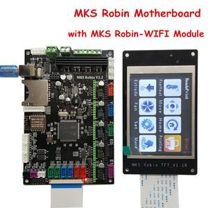Freeshipping 3D Printer Parts Carte mère MKS Robin V2.2 Controller avec Robin TFT32 Logiciel à source fermée pour écran + Module MKS Robin-WIFI