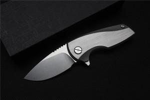 Envío gratis, Malyshev Gnome cuchillo de bolsillo cuchillo exterior D2 hoja de acero inoxidable mango Ti supervivencia herramienta de caza envío gratis