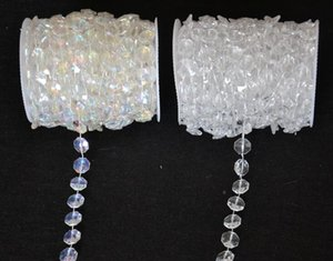 Wholesale-30 متر الماس كريستال الخرز الاكريليك لفة شنقا جارلاند ستراند الزفاف عيد الميلاد ديكور diy الستار WT052