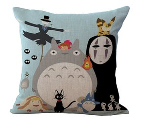 Cute Chinchilla Totoro Pillow Case Cushion cover Linen Cotton Throw Pillowcases sofa Bed Pillow covers Empty Drop shipping PW431