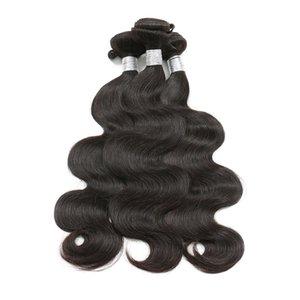 Brasileira Onda Do Corpo Do Cabelo Virgem Kinky Curly Cabelo Liso Bundles 100% Cabelo Humano Tece Cor Natural 8-26 Polegada Pode Comprar 3/4 Pacotes