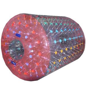 أسطوانة المياه zorbing أنبوب المياه المتداول الكرة كبير الإنسان الهامستر عجلة نفخ ألعاب 2.4 متر 2.6 متر 3 متر مع البريد مجانا