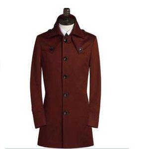 New designer slim sexy single breasted trench coat mens casaco masculino de manga longa mens clothing business outerwear casaco masculino