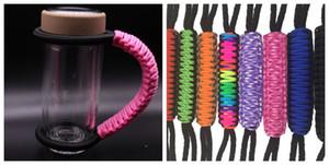 Paracode kolu 900 ml kupalar için ayarlanabilir paracode tutucu için 600 ml fincan renkli el dokuması polyester halat kolu