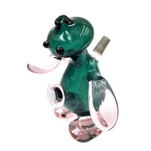 Vendita calda Psyduck design tubo di vetro di mano con tubo di vetro di tabacco verde scuro per il fumo Consegna veloce