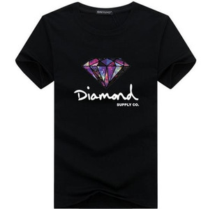 3D Diamond men short sleeve t shirt skateboard fashion brand clothing hip hop camisetas mens tops streetwear tee shirt homme