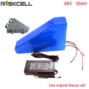 Batteria al litio ricaricabile 48V 35AH 2000W Batteria triangolo ebike 48v per motore mid-drive bafang bbs02 bbshd 48v per cella Sanyo