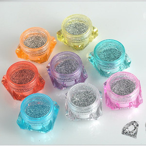 Wholesale- 100pcs/lot 3g 5g High-grade Cosmetics Packaging Box Face Cream Jar Sample Box Makeup Empty Jar Container Bottle Multicolour Pot