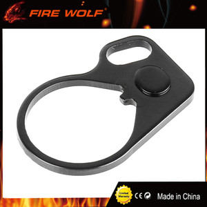 Tactical Oval Single Loop End Plate Side Sling Adapter Ambidextrous Right Handed Mount Adapter Rifle pistola de Gun