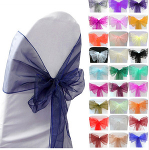 Tulle Chair Sashes per Matrimoni Party Prom Quinceanera Event 2017 Custom Colors 30 * 275cm Wedding Supplies Bow