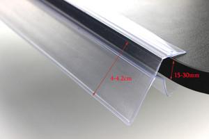 PVC 유리 홀더 라벨 난간 바 스트립 홀더 스냅 토커 스트립 선반 가격 커버 목재 가격 태그 레이블 선반 배너 Dbohe