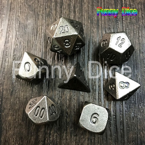 NEW Metal 7 Dice set d4 d6 d8 d10 d% d12 d20 for Board Game Rpg Dados juegos de mesa dungeons & dragon dice