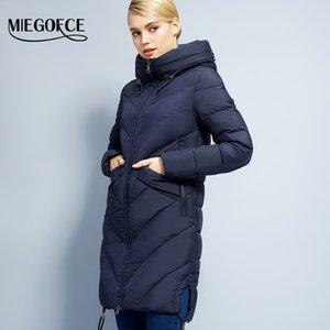 2017 Miegofce colección de invierno simple chaqueta de las mujeres de la moda parkas Bio-down cálido engrosamiento de algodón acolchado femenino abrigo de la chaqueta