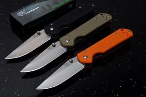 Top qualité SanRenMu 910 couteau pliant 440C satin point de chute de la lame poignée G10 EDC Couteaux de poche avec le paquet de papier boîte originale