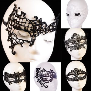 Mode Sexy Lace Party Masks Femmes Dames Filles Masquerade Masque Halloween Noël Cosplay Danse Valentine Demi Visage Masque WX-M04