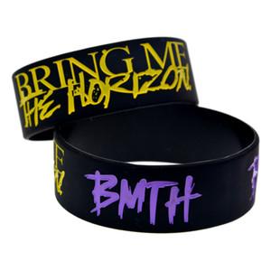 50PCS Death Metal Style Music Band BMTH Bring Me The Horizon 1 Zoll breit Silikon Armband Schwarz