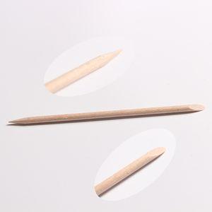 100 Pcs / Pack Nail Art Orange En Bois Bâton Cuticule Pusher Remover Pour Manucure Pédicure Beauté Salon Outils Chirstmas Cadeaux De Haute Qualité