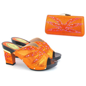 Wholesale2017 Fashion african Shoes and Bag Matching Set Ladies Shoes and Bag for party,FREE SHIPPING ! KD1-4